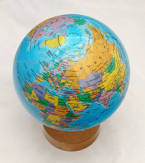 "Mova Globe 4.5"" Political image"