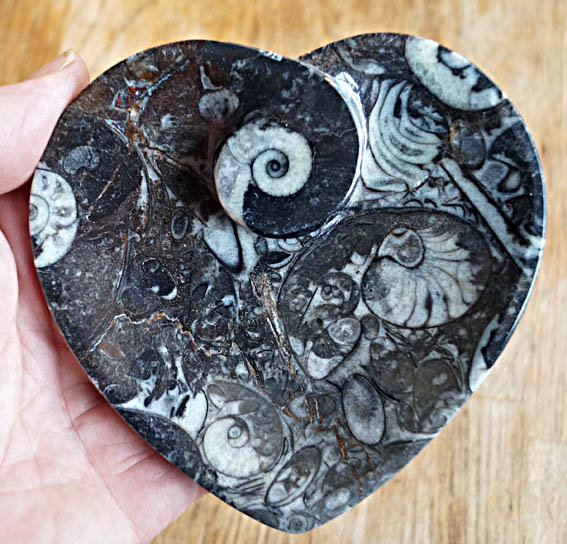 Heart Shaped Fossilstone Bowl