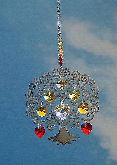 "Tree of Life Window Crystal display ""autumn"""