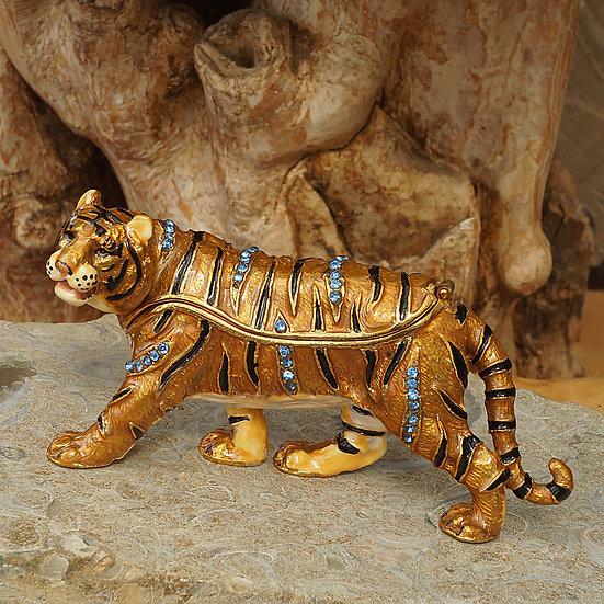 Cloisonne Tiger trinket box