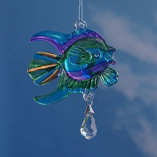 Coral Fish (peacock colours) Fantasy Glass