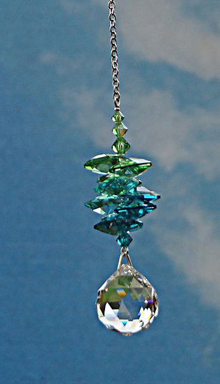"20mm Ball ""cascade"" rainbow maker window crystal"