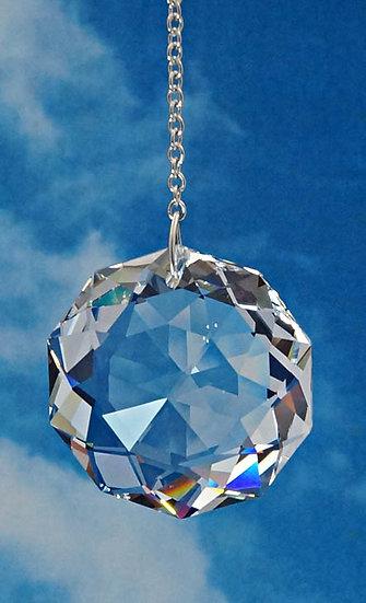 38mm Dahlia Rainbow Maker Window Crystal