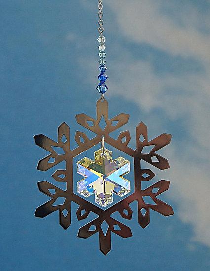 Snowflake radiance window crystal display