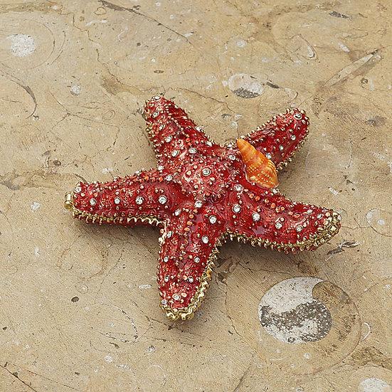 Cloisonne Starfish trinket box