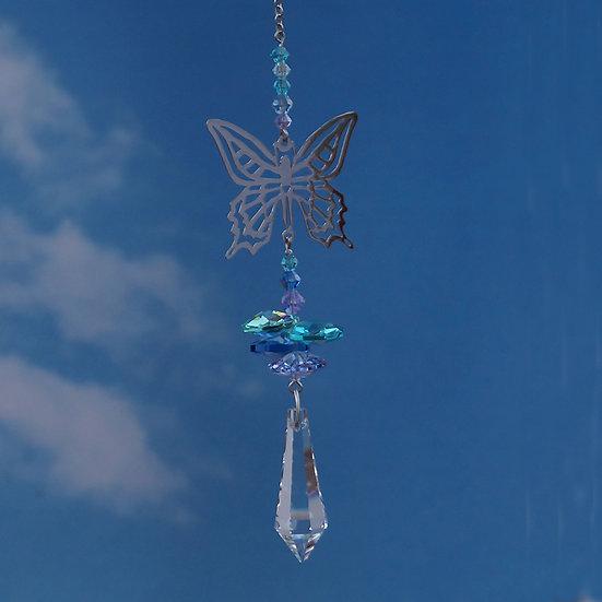 Butterfly Fantasy Window Crystal