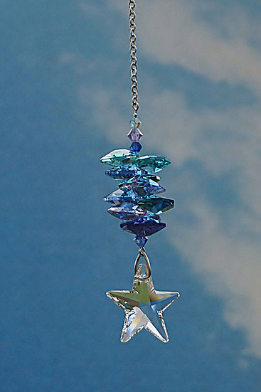 "28mm Star ""Cascade ""Rainbow Maker window Crystal"