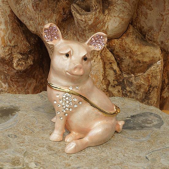 Cloisonne Pig trinket box