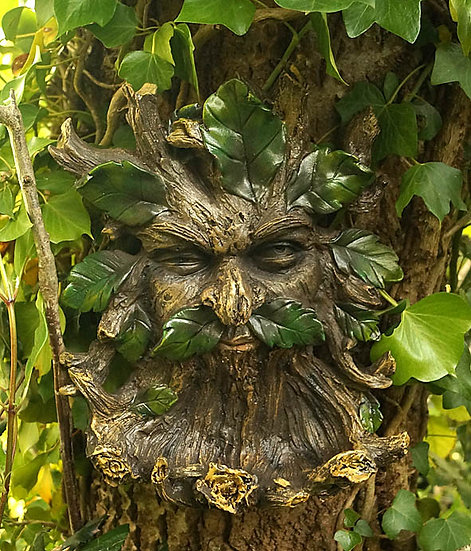 Green Man Bird Feeder/bath