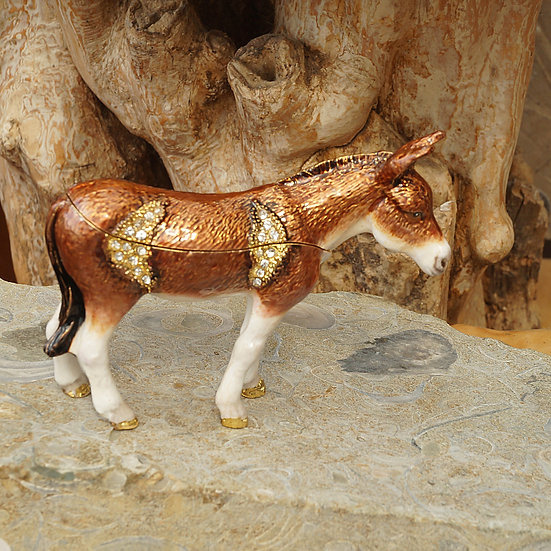 Cloisonne Donkey trinket box