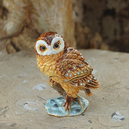 Cloisonne Owl on branch