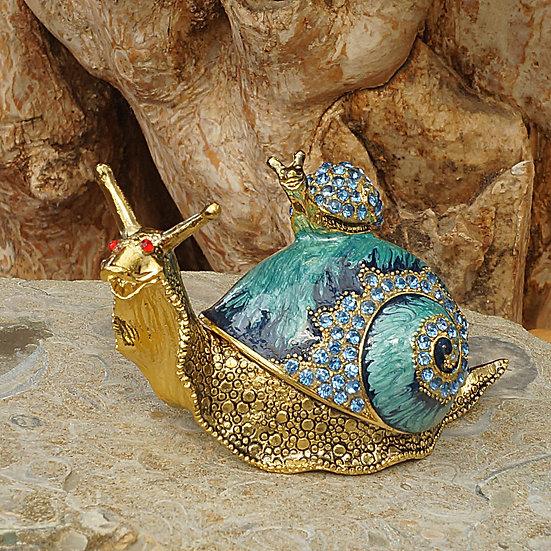 Cloisonne Snail trinket box