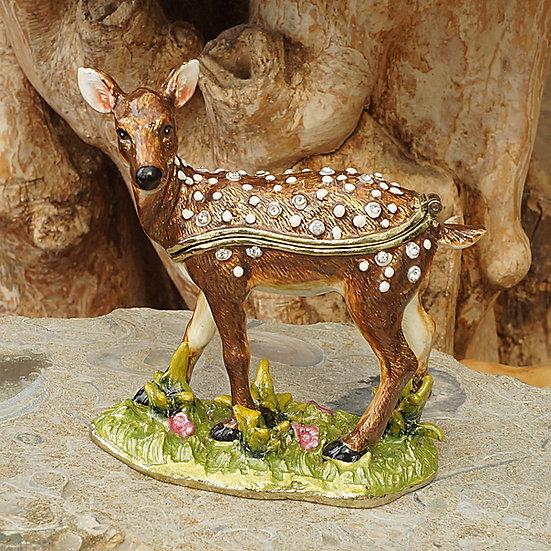 Cloisonne Deer trinket box