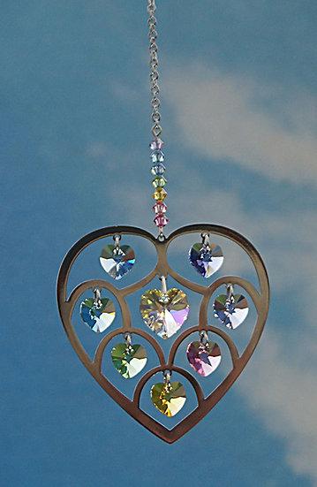"Heart of Hearts window crystal""confetti"""