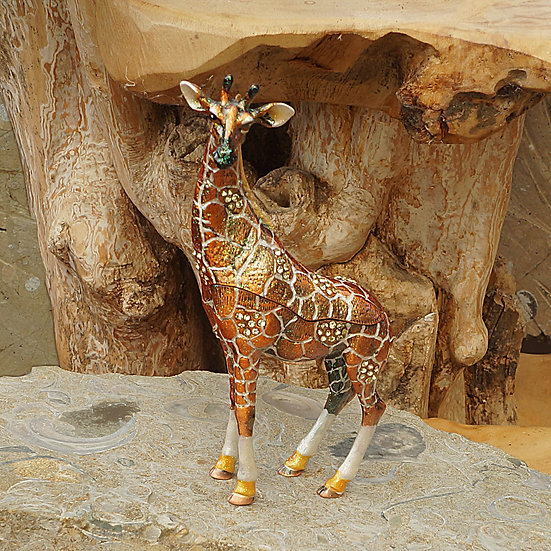 Cloisonne Giraffe trinket box