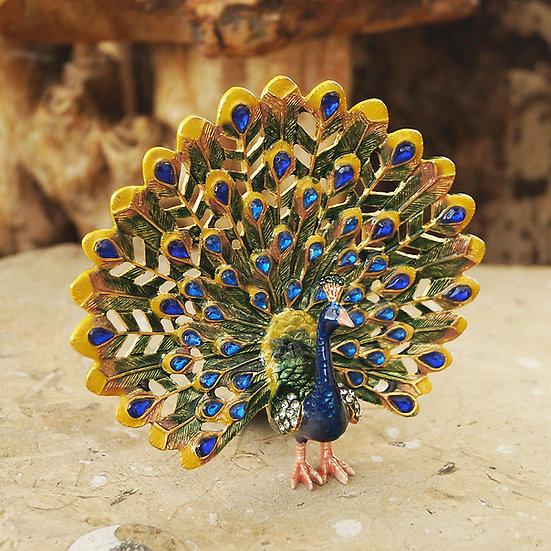 Cloisonne Peacock