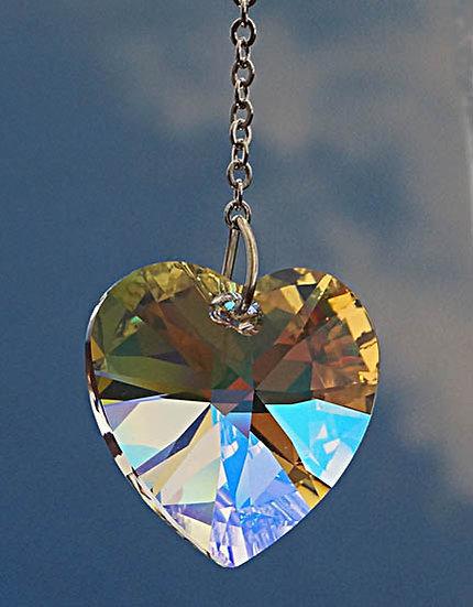 28mm Heart shaped Rainbow Maker window crystal