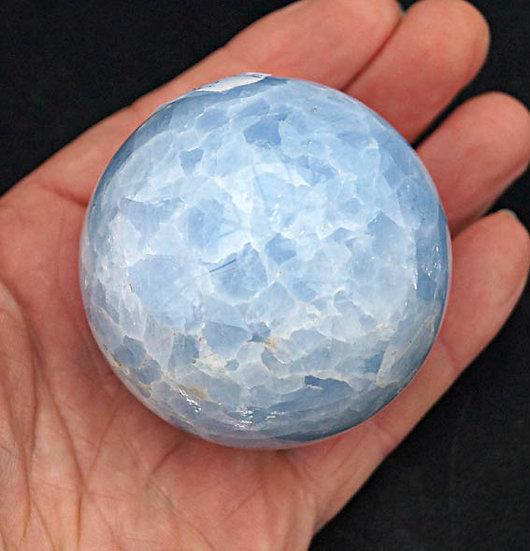 Blue Calcite Sphere   (sp)