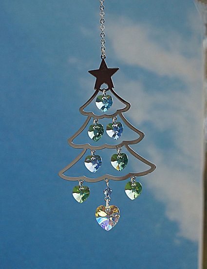 Radiance Christmas tree window crystal display