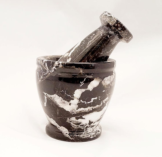 Black Marble Pestle & Mortar