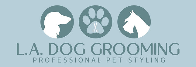 L.A. Dog Grooming Logo