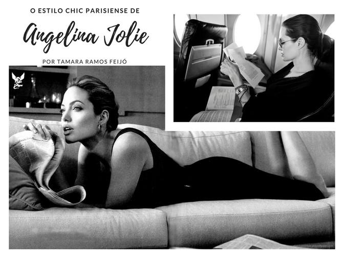 Angelina Jolie e o estilo chic parisiense