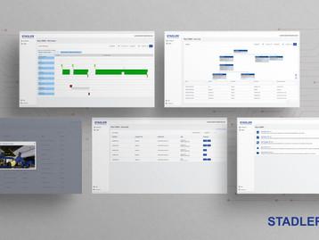 A plataforma STADLER Service Data Cloud melhora a eficiência
