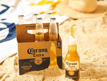 Corona reinventa embalagens sustentáveis e lança pack de cerveja feito de cevada
