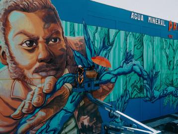 Águas Prata homenageia com mural de 187m2 descobrimento de mina, em 1876, que originou a empresa