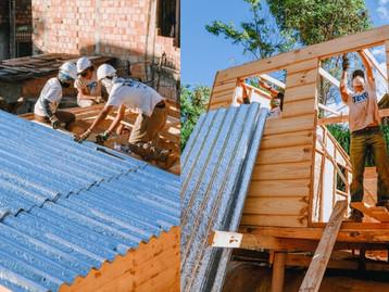 Caixas de suco recicladas estão virando telhas para casas populares em todo o Brasil
