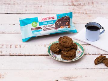 A marca de biscoitos saudáveis Jasmine Alimentos