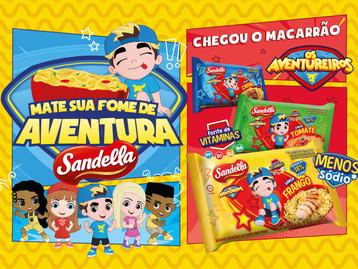 Sandella amplia linha e lança macarrão instantâneo dedicado ao público infantil