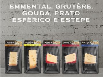 Queijos especiais da Cruzília em embalagem skinpack entregam praticidade ao consumidor