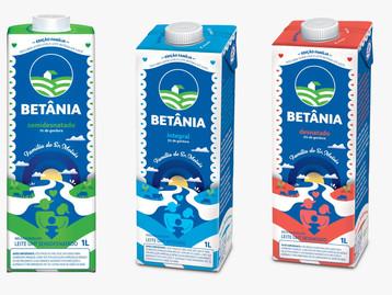 Betânia lança leite em embalagem Edição Família
