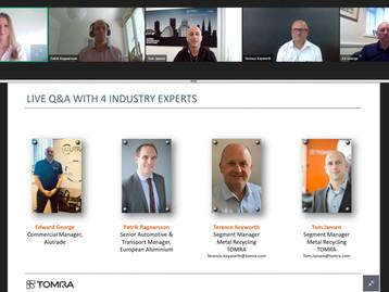 TOMRA Recycling explora o futuro da indústria global de alumínio em webinar dedicado