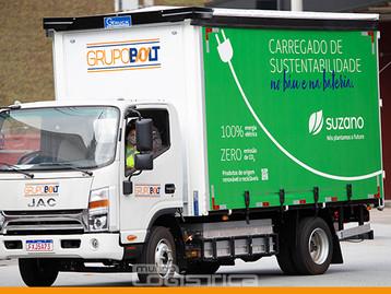 Suzano inicia operação com caminhões elétricos em São Paulo