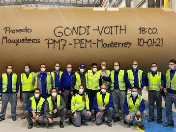 Voith conclui start-up de máquina de papel do Grupo Gondi no México