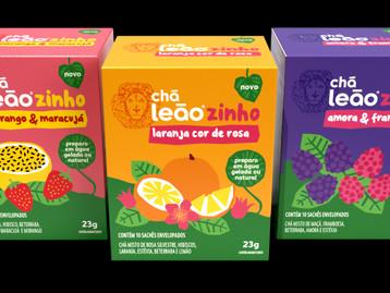Leão Alimentos e Bebidas amplia portfólio e lança a linha de Chás Leãozinho
