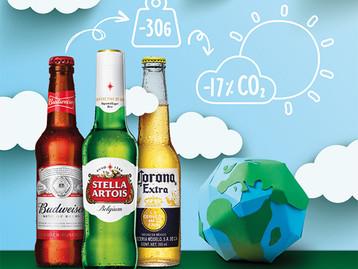 A AB InBev desenvolveu na Europa a garrafa de cerveja long neck mais leve do mundo