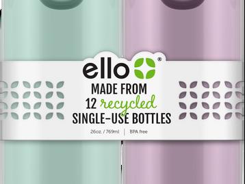 Ello lança nova linha de garrafas de água sustentáveis