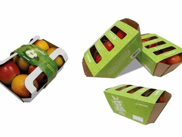 Embalagem sustentável e rotulagem de frutas e vegetais frescos