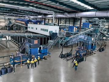 STADLER completa instalação de nova planta mecânica de separação de resíduos