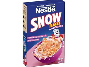 Snow Flakes® lança cereal sabor morango com  nova identidade visual