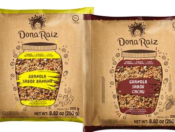 Cacau e banana são os novos sabores da granola Dona Raiz
