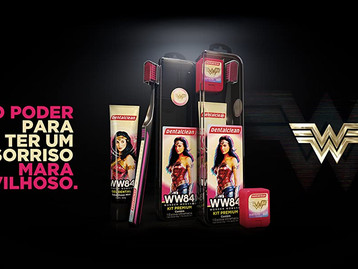 Dentalclean lança kit com estojo em homenagem ao filme Mulher Maravilha 1984