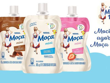 Nestlé lança Moça® Mini em três sabores: original, chocolate e morango