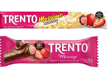 Chocolate com morango: Trento e Trento Massimo ganham novos sabores