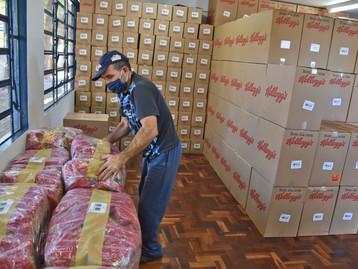 Kellogg celebra o Dia Mundial da Alimentação doando uma tonelada de alimentos por hora