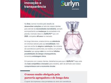 Inovação e parcerias - SURLYN™ em 2021