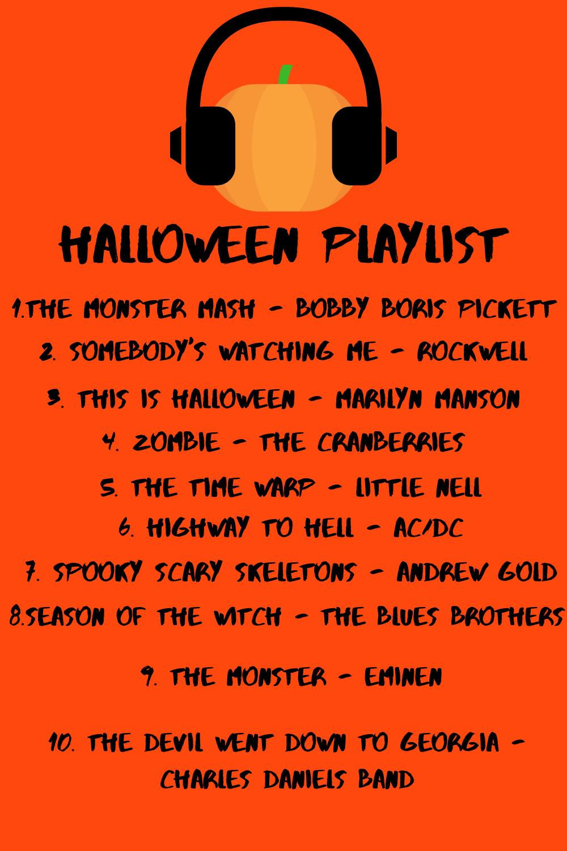 Playlist of my top ten Halloween tunes on Spotify